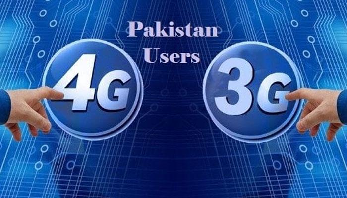 پاکستان میں تھری، فور جی صارفین کی تعداد  8 کروڑ 48 لاکھ سے تجاوز کرگئی