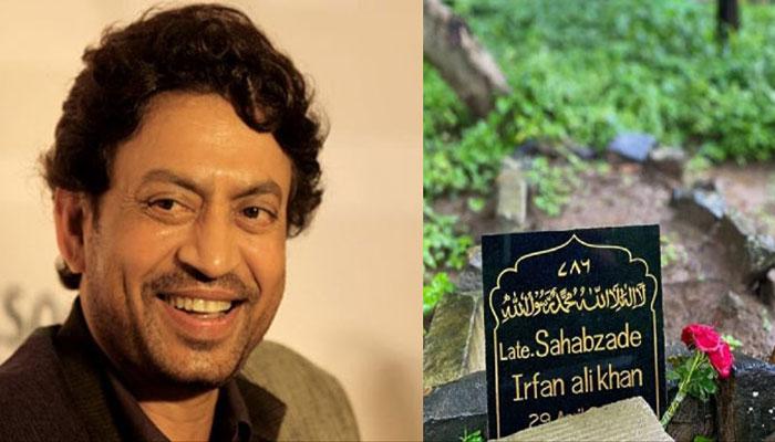 عرفان خان کی پھولوں سے ڈھکی قبر دیکھ کر مداح اداس ہوگئے