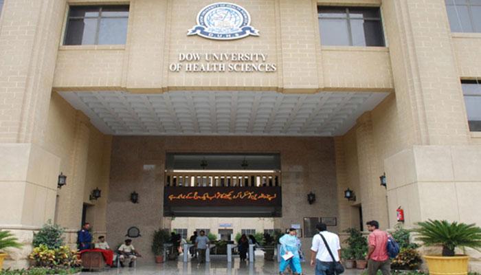 ڈاؤ یونیورسٹی میں ملازمین کا احتجاج