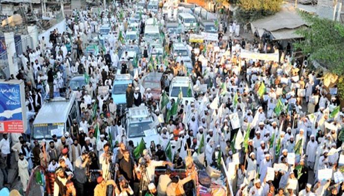 ناموسِ رسالت لانگ مارچ کے شرکاء اسلام آباد پہنچ گئے