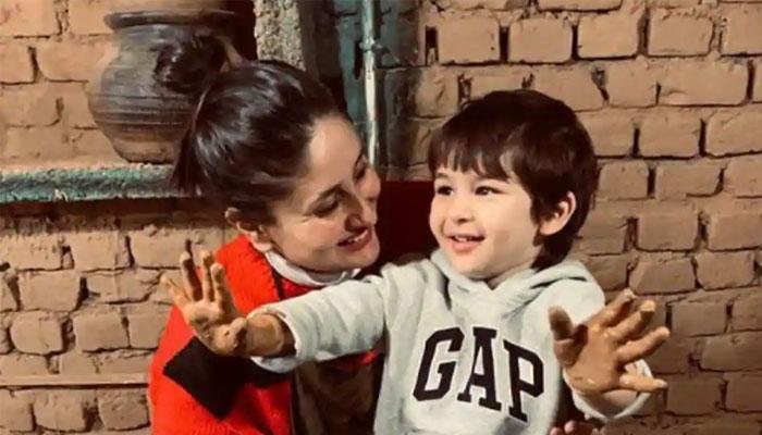 کرینہ کپور کا سرخ و سیاہ رنگ کا سوئٹر مداحوں میں مقبول