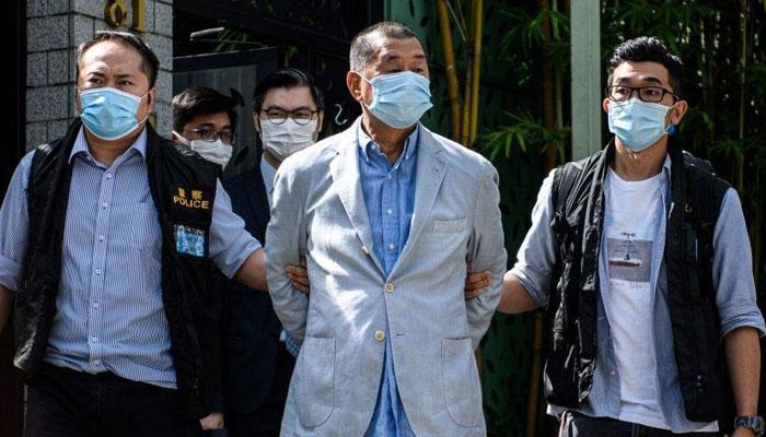 ہانگ کانگ، جمہوریت نواز اخبار کا مالک گرفتار