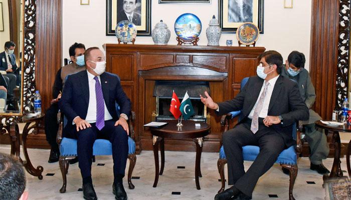 وزیراعلیٰ سندھ سے ترکی کے وزیر خارجہ کی ملاقات، دو طرفہ تعلقات پر تبادلہ خیال