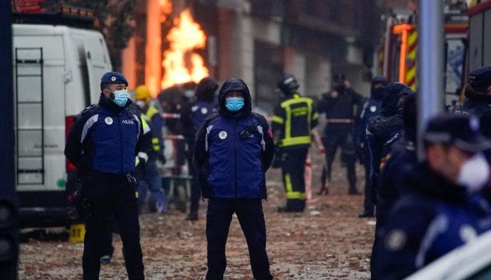 اسپین کے دارالحکومت میں زوردار دھماکہ، 3افراد ہلاک