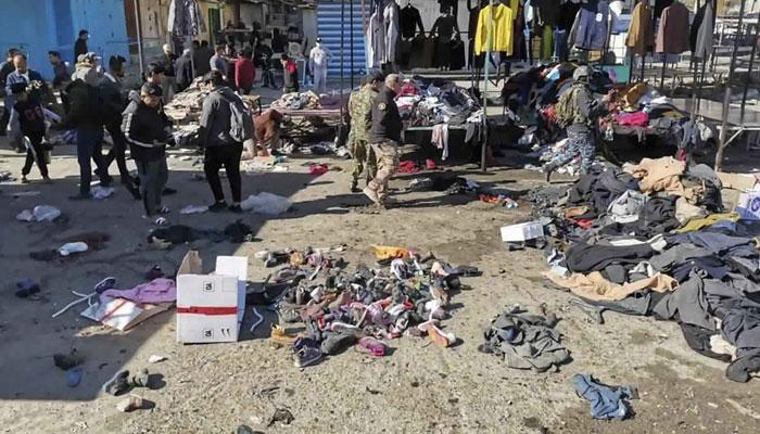 بغداد میں دو خودکش دھماکے، 35 ہلاک، 100 زخمی
