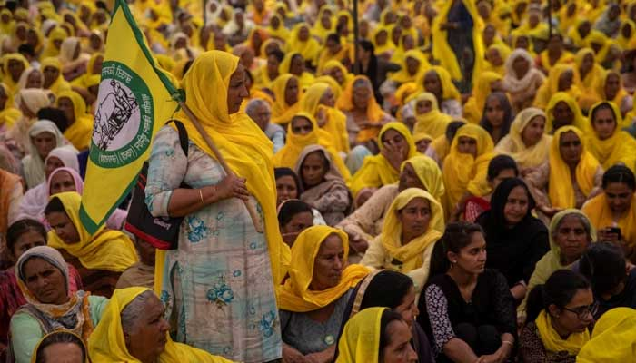 بھارت، عورتوں کا عالمی دن، ہزاروں خواتین کسانوںکا احتجاج