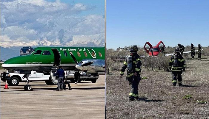 امریکا، دو چھوٹے ہوائی جہاز فضا میں ٹکرا گئے