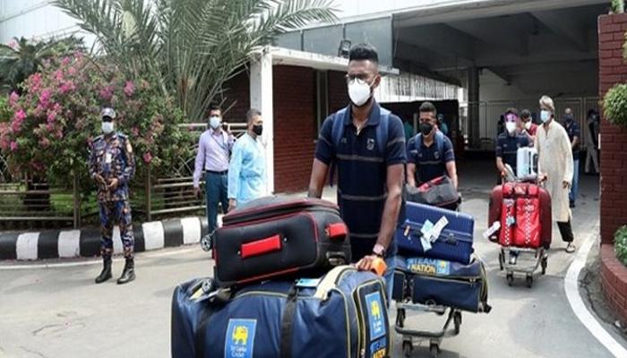 سری لنکن کرکٹ ٹیم ون ڈے سیریز کیلئے بنگلہ دیش پہنچ گئی