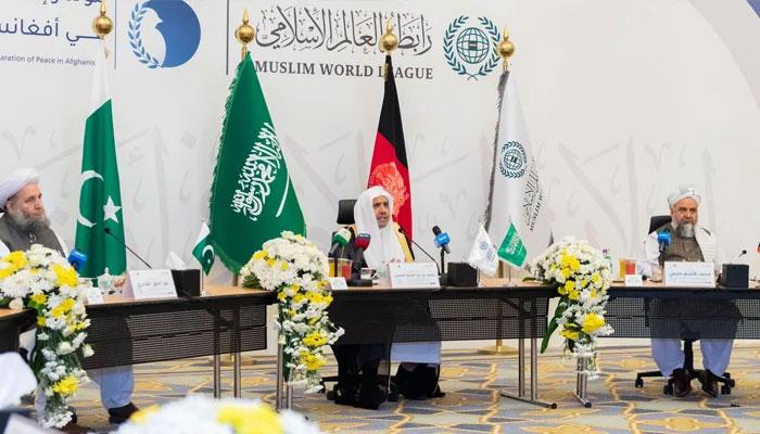 امن کا قیام،پاک افغان علما ءکے تاریخی اعلان پر خانہ کعبہ کے سائبان تلے دستخط