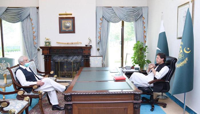 وزیراعظم عمران خان سے احسان مانی کی ملاقات،کرکٹ امور پر گفتگو