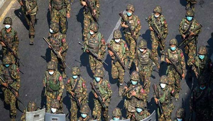 میانمار میں فوج اور گوریلا گروپ میں تصادم