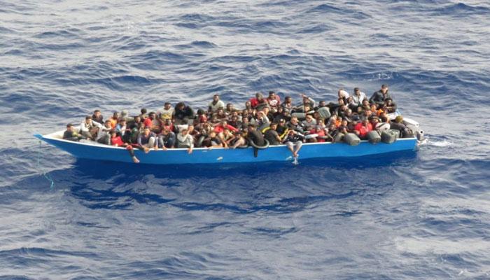 لیبیا میں کشتی الٹنے سے57 غیر قانونی تارکین وطن ہلاک