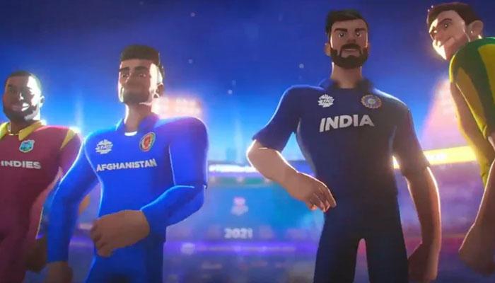 ٹی 20 ورلڈ کپ کا ترانہ جاری، کوہلی موجود، پاکستان غائب