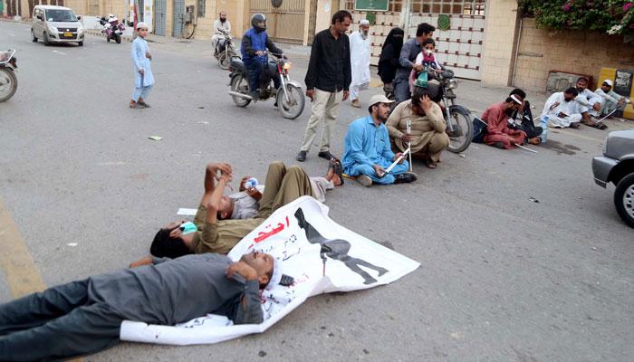 ملازمتوں میں کوٹا، نابینا افراد دوسرے دن بھی کراچی، لاہور اور پشاور میں سڑکوں پر