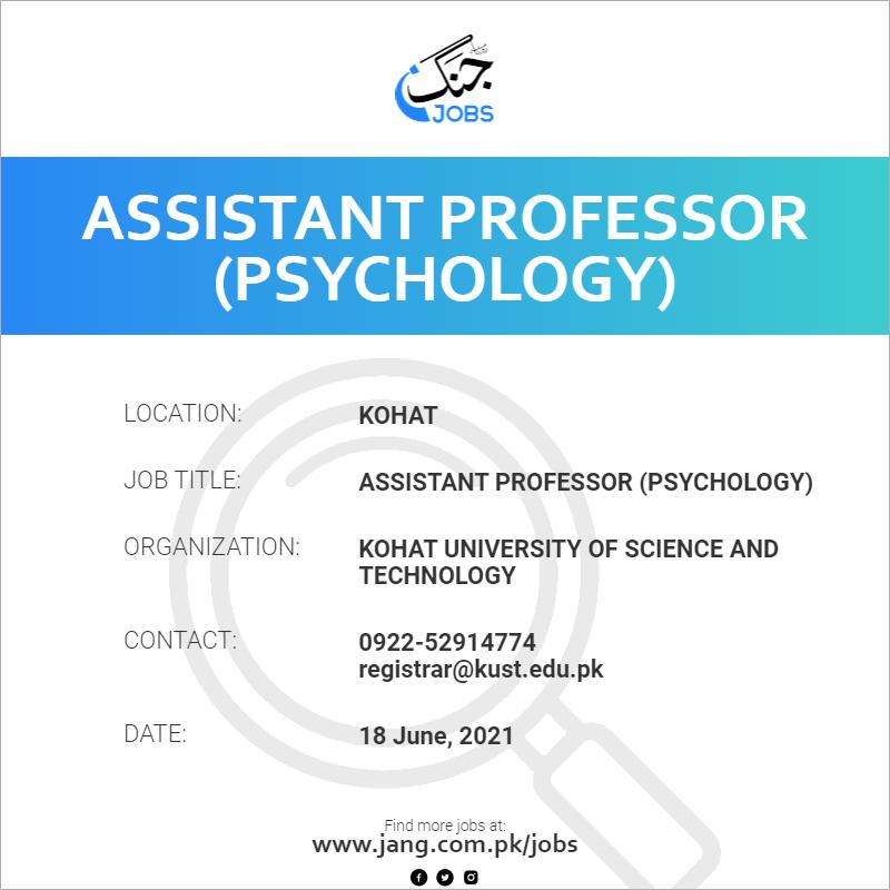 Assistant Professor (Psychology)