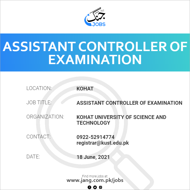Assistant Controller Of Examination