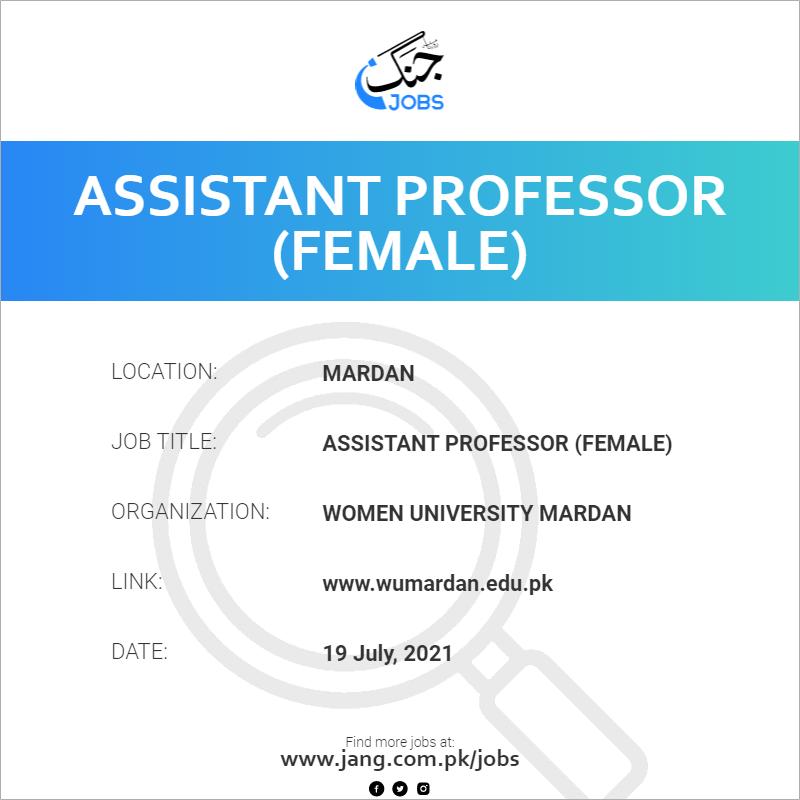 Assistant Professor (Female)