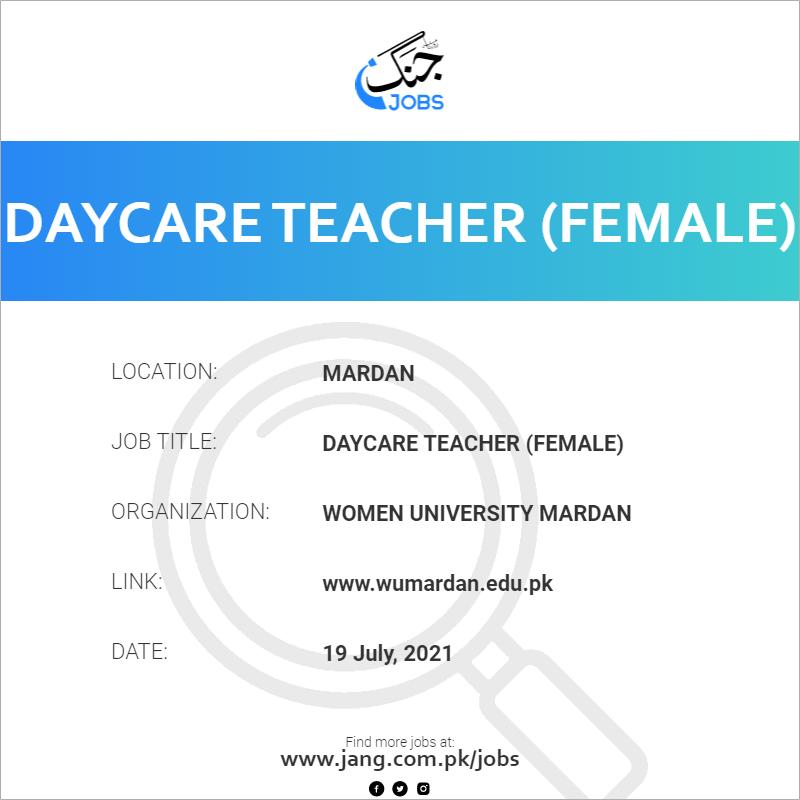 Daycare Teacher (Female)