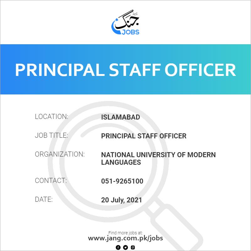 Principal Staff Officer