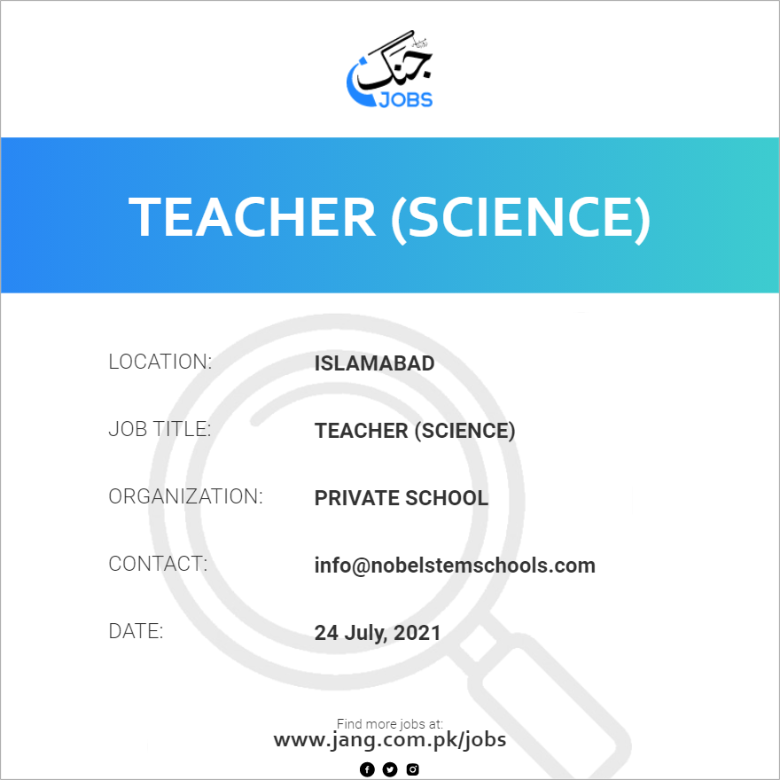 Teacher (Science)