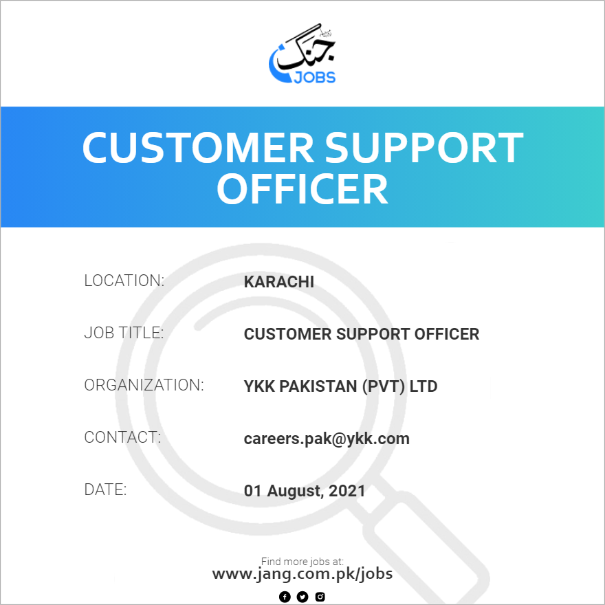 Customer Support Officer