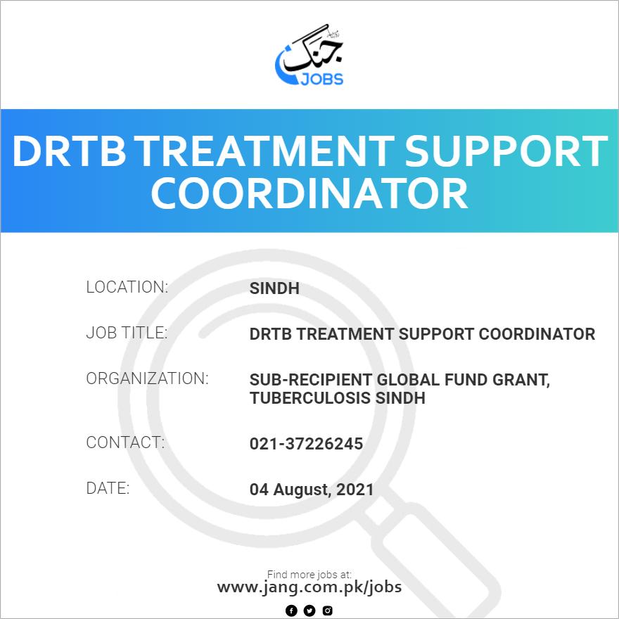 DRTB Treatment Support Coordinator