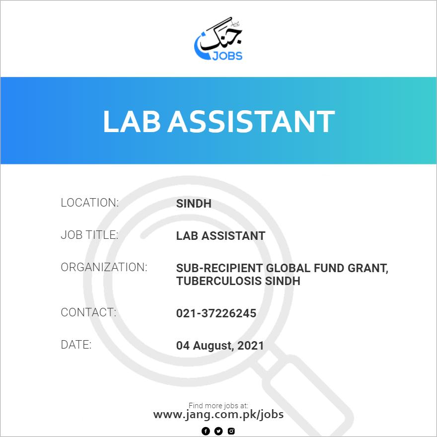 Lab Assistant