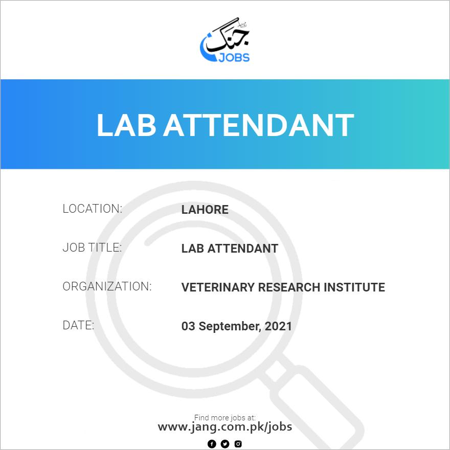 Lab Attendant