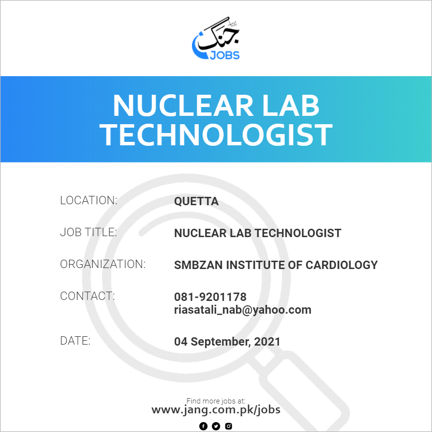 Nuclear Lab Technologist