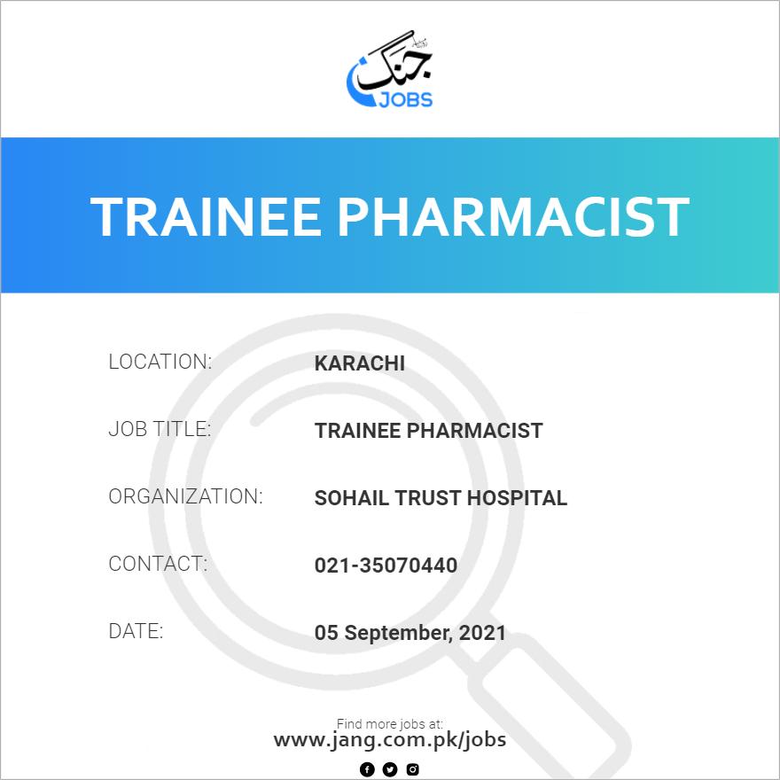 Trainee Pharmacist