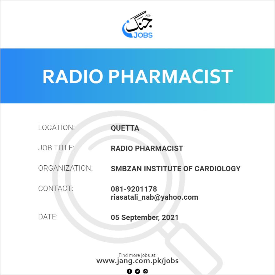 Radio Pharmacist