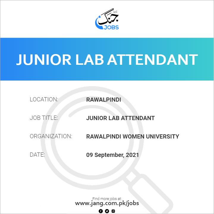 Junior Lab Attendant