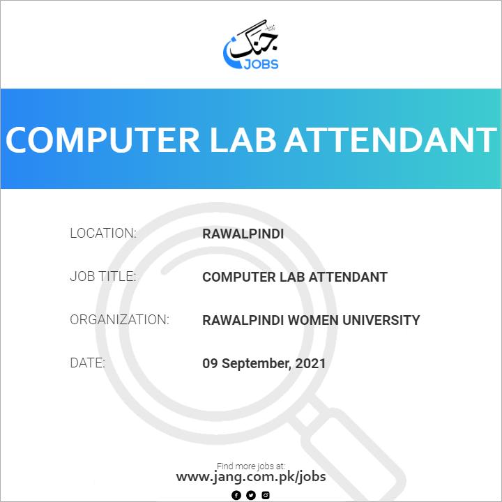 Computer Lab Attendant