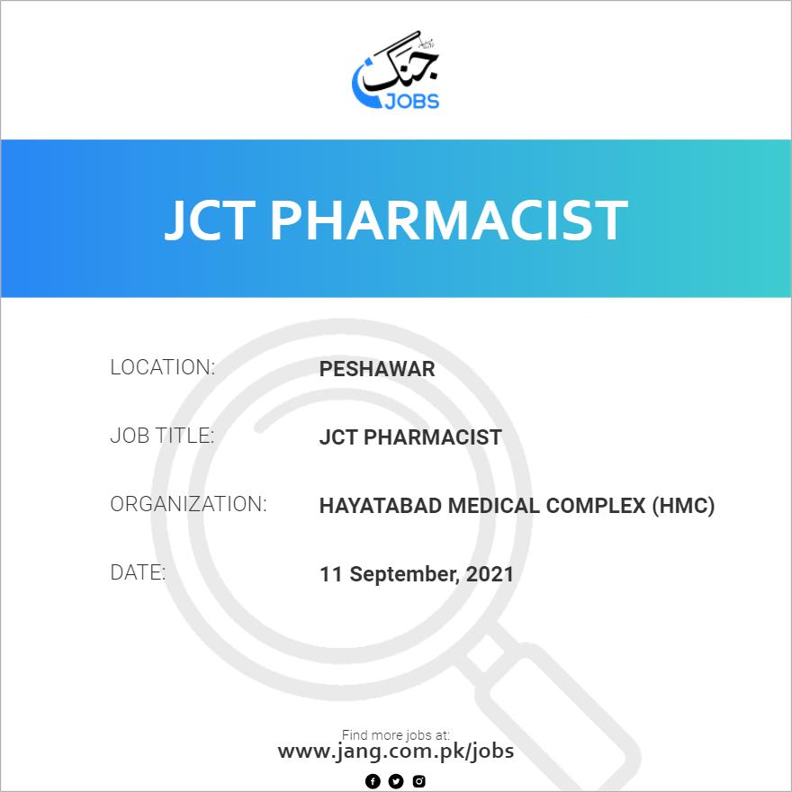 JCT Pharmacist