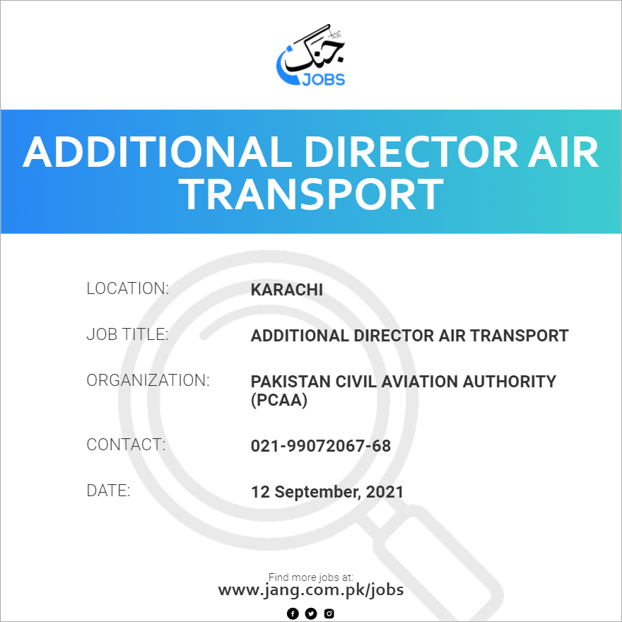 Additional Director Air Transport