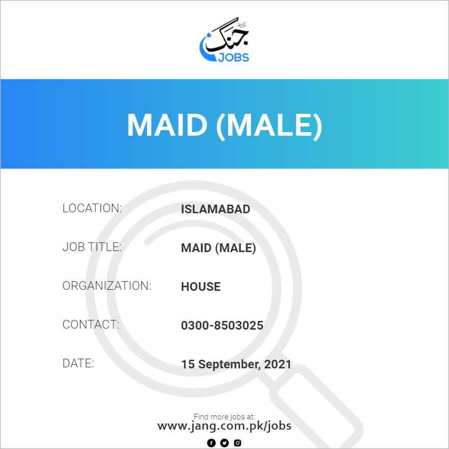 Maid (Male)