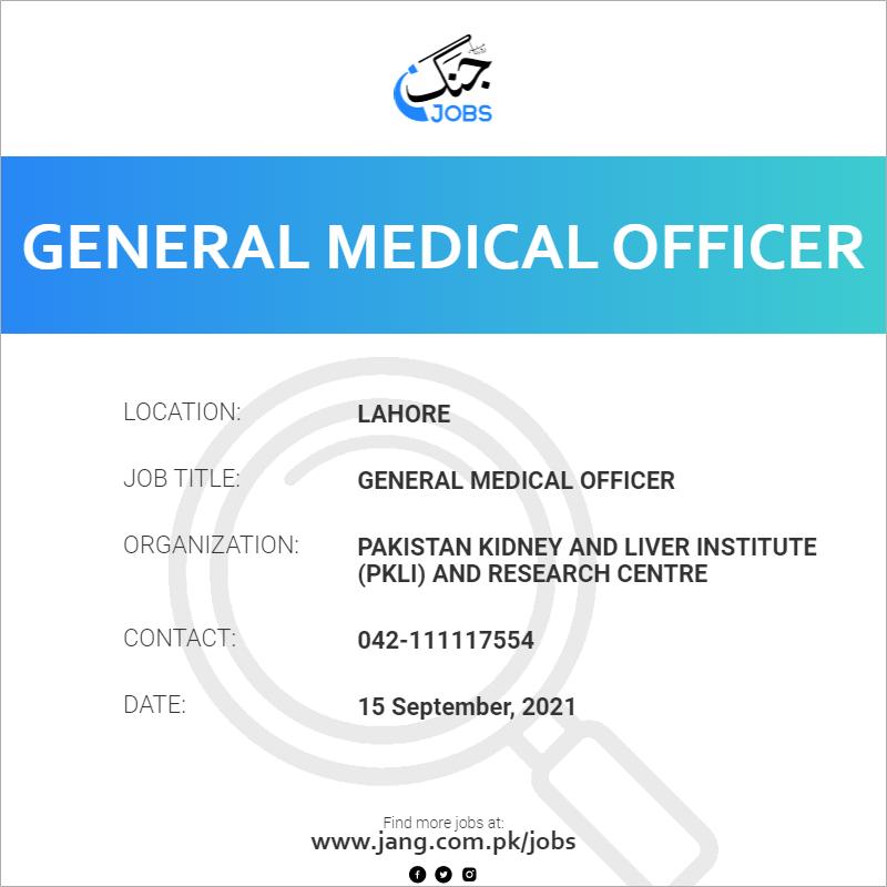 General Medical Officer