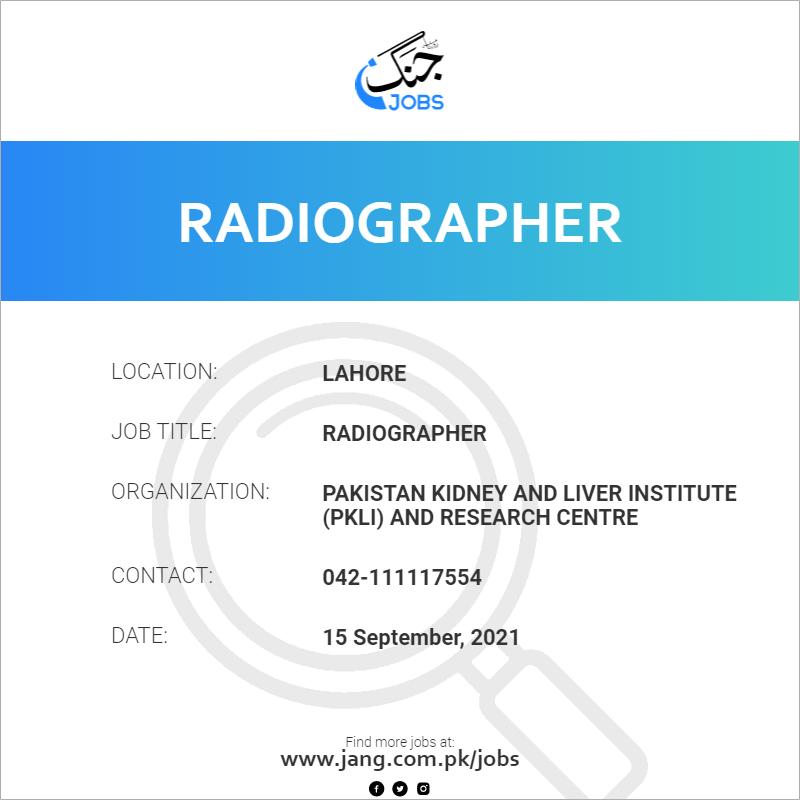 Radiographer