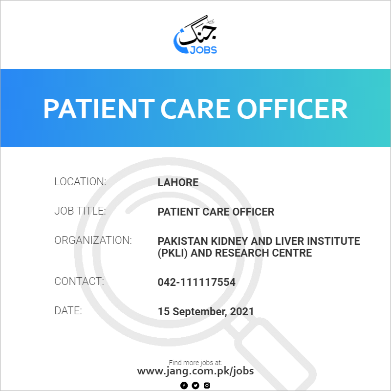Patient Care Officer