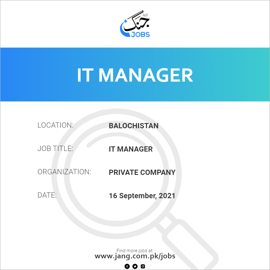 IT Manager
