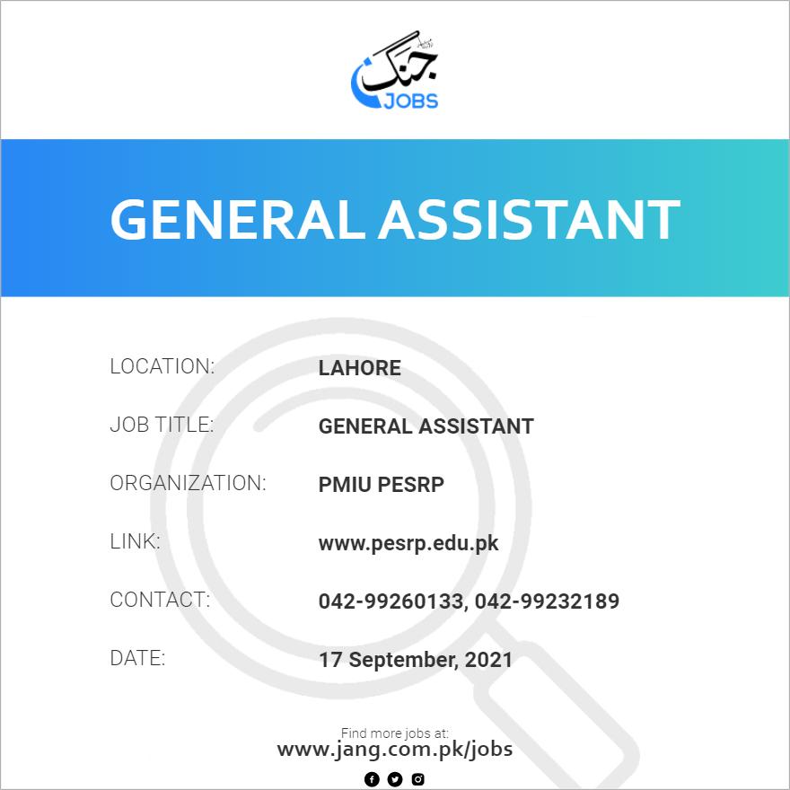 General Assistant