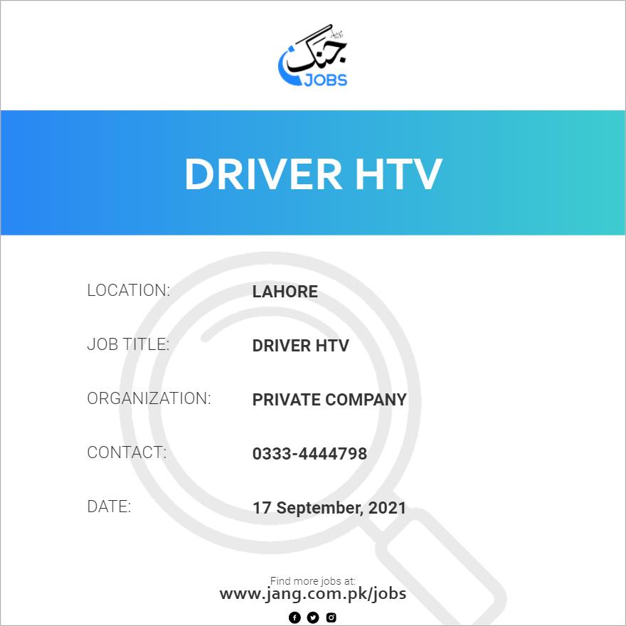 Driver HTV