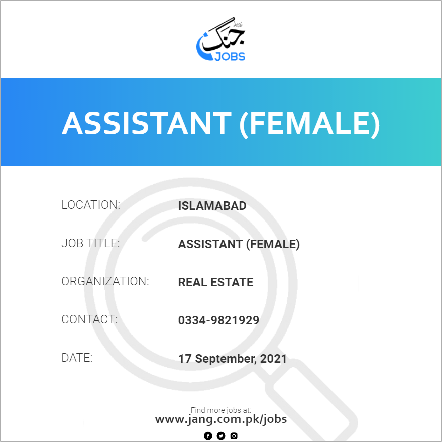 Assistant (Female)