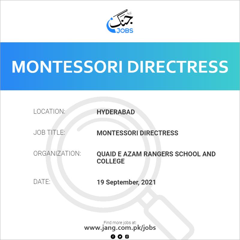 Montessori Directress