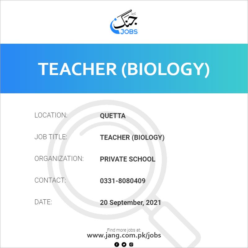 Teacher (Biology)