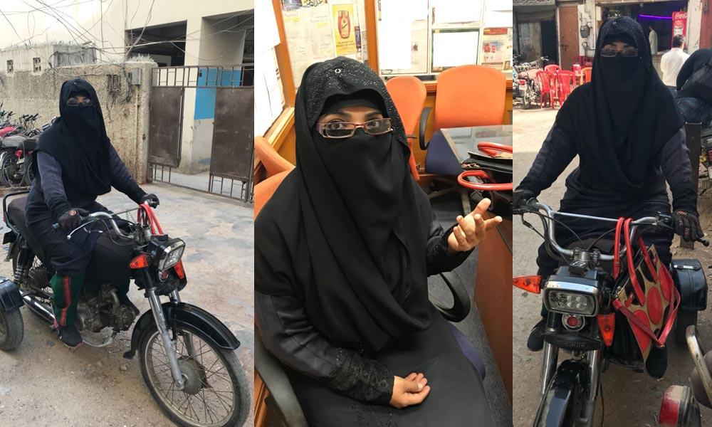 سڑکوں پر موٹر سائیکل دوڑاتی، باہمت خاتون ''حمیرا جبیں'' کے اوراق زیست