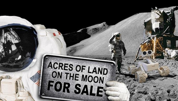 چاند پر اراضی کی فروخت