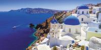 یونان کا دلفریب جزیرہ 'سینتورینی'