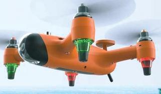 آب دوز، کشتی اور ہوائی جہاز کا حامل'' ڈرون''