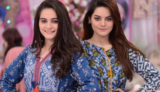 جڑواں فن کار بہنیں ''ایمن خان اور منال خان''